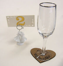 2 engraved toasting glasses/ wedding flutes/ personal