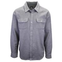 prAna Men's Solid Grey L/S Flannel Shirt (S18)