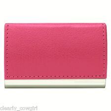#8063 - WELLSPRING PINK SIGNATURE MAGNETIC FLIP CASE BUSINESS CARD HOLDER -WOW!