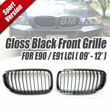 EURSPEC GLOSS BLACK KIDNEY FRONT GRILLE FOR BMW 3 SERIES E90 E91 LCI 2009-2012