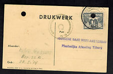 1943 Herzogenbusch Netherlands Concentration Camp Postcard Cover Package Thanks