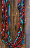 Red Handmade Guatemalan Graduated Bead Necklace