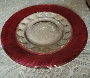 """Kings Crown Ruby Thumbprint Dinner Plate 10 1/4"""""""