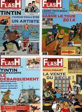 Carte Postale Tintin -  4  cartes PARIS FLASH  B. Pastiche IMAGES DE TINTIN 2017