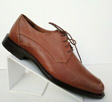 Johnston and Murphy mens size 9M dress oxfords tan leather square toe 20-7122