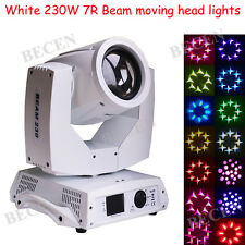 White shell 230W beam moving head 7r sharpy lights for stage wedding 1pcs