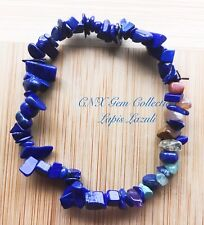 Crystal Gemstone Lapis Lazuli Chip Stone Chakra Stretchy Bracelet B