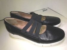 Clarks Daelyn City Womens 26109202-Black Leather Wedge Slip On Shoes Size  7.5