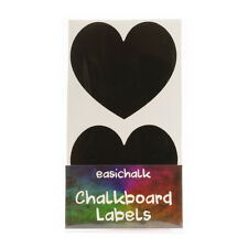 easichalk® 12 Large Heart Chalkboard labels.