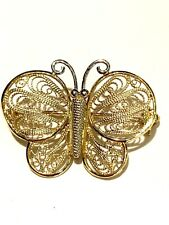 14k Yellow & White Gold Butterfly Pin