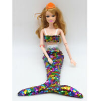 Mermaid Dress Clothes Set for Dolls Multi-colored