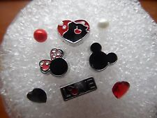 MICKEY & MINNIE VALENTINES  SWEETHEARTS Floating Charm MIX MEMORY Locket 8p