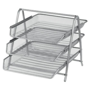 Office Depot Filing Shelves Document Shelves Silver Wire Mesh 27 x 35.5 x 30cm