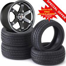 "18"" ST16 B Alloy Wheels Tyres 225/40 Mitsubishi Evo Toyota Supra Nissan Skyline"