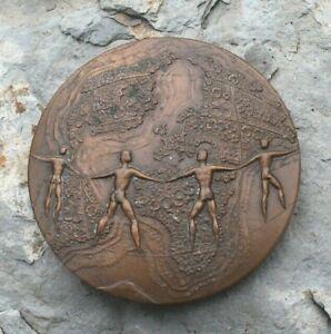 médaille bronze  ancien stagiere du tresor ( signéé  b. turlan )