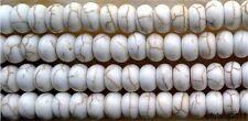 5x8mm white Turquoise Rondelle Gemstone Loose Beads 15''