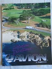 Fleetwood Avion Motorhome brochure 1995 English text