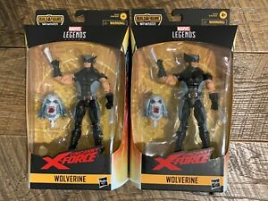 MARVEL LEGENDS WOLVERINE UNCANNY X-FORCE - LOT OF 2 - BOX VARIANTS - READ!