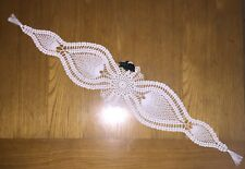 NEW Long Table Centre Piece Doily With End Tassles