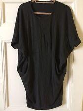 Beautiful Cos Womens Bat Wing Dark Grey Oversized Dress Size S