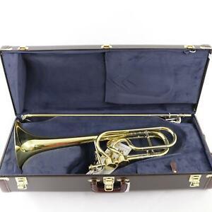Bach Model 50A3 Stradivarius Bass Trombone Dual Hagmann Valves MINT CONDITION