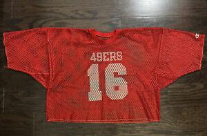 Vintage San Francisco 49ers NFL Football Champion Jersey Mens 48 #16 Joe Montana