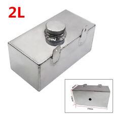 2L Aluminium Polished Car Windscreen Washer Bottle Intercooler Spray Tank w/Cap