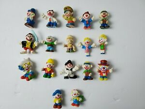 1981 Mego Corp Clown Around Clown Figurines LOT OF 17
