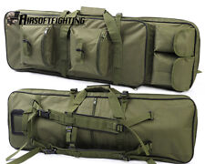 33Inch 85cm Hunting Tactical Shotgun Dual Rifle Bag Carry Gun Case Backpack OD