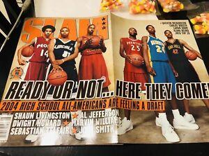 LEBRON JAMES SLAM 80 Magazine 2004 Poster Kobe Bryant Charity Rookie Nike LeBron