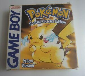 Pokemon Yellow Special Pikachu Edition Nintendo GameBoy Boxed - Original Genuine