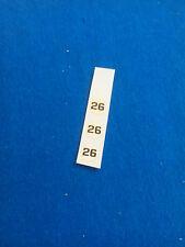 (Tr 116) DINKY GB série 240 - toboggan transfer decalcomanie N° 26 diamètre 6
