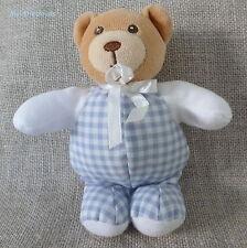 Kaloo ***Doudou/Blanket/peluche  ours Carreaux bleu et blanc 15cm