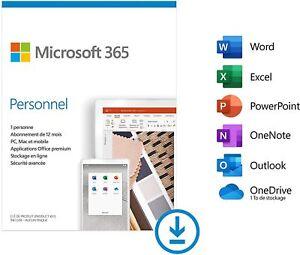 Microsoft Office 365 Personnel 5 appareils -1 utilisateur- 1 an Personal  FR