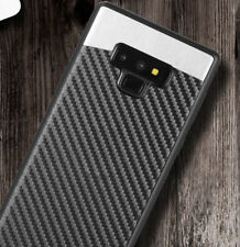 Samsung Galaxy Note 9 - Magnetic Backplate Black Carbon Fiber TPU Rubber Case