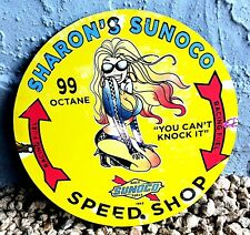 Sunoco Sharon'S 1962 Vintage Old Style Speed Shop Route 66 Gas Pump 99 Ads Sign
