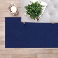 "Custom Size NAVY BLUE Stair Hallway Runner Rug Rubber Back Non Skid 22"" 26"" 31"""