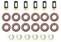 PINTLE CAPS FUEL INJECTOR REPAIR KIT O-RINGS SPACER FILTERS ALFA ROMEO V6