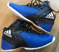 Boys Size 5 Adidas Basketball Shoes Blue & Black
