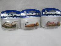 New TERMINATOR 3/4 Oz. Football Jig 3 Different Skirt Colors (Lot of 3)