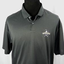 Nike Fit Dry Golf Casual Mesh Shirt XL Dark Gray Swan Lake Patch Swoosh