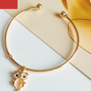 Gold jewelry Owl Bracelet Bangle Cuff Fashion Bracelets for Womens Female