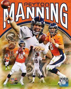 Peyton Manning Denver Broncos Collage Photograph NFL