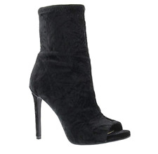 Jessica Simpson Women's Rainer Fashion Boot - Black Crushed Velvet 10M