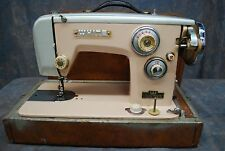 White Sewing Machine U.S.A.and Canada Ac/Dc-75 Cycles in Case Beige/Light Blue