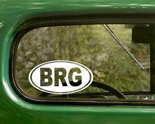 2 Oval BRG Brigantine Decal Stickers New Jersey, Vinyl, Bumper, Cars, Laptop