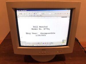 """DELL VINTAGE 16"""" COMPUTER MONITOR Model E770s Excellent Condition 90s CRT Retro1"""