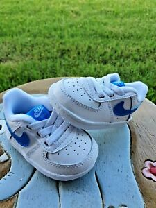 Nike Air Force 1 White/Photo Blue BRAND NEW Toddler 2C