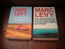 MARC LEVY - LOT 2 ROMANS GRANDS FORMATS : AUTRE IDEE BONHEUR + UN SENTIMENT PLUS
