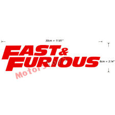 1PC Red Color JDM Fast And Furious HF Moto Auto Car Decorate Vinyl Sticker Decal
